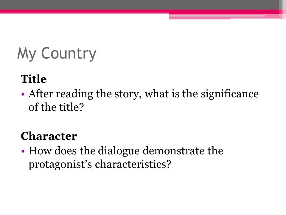 the importance of the development of a personality in short stories Sherri sheridan provides helpful tips to developers of digital short films on the creation of interesting characters using metaphors and symbols to tell stories go through your character history questions and see how you could show the important points using metaphors.