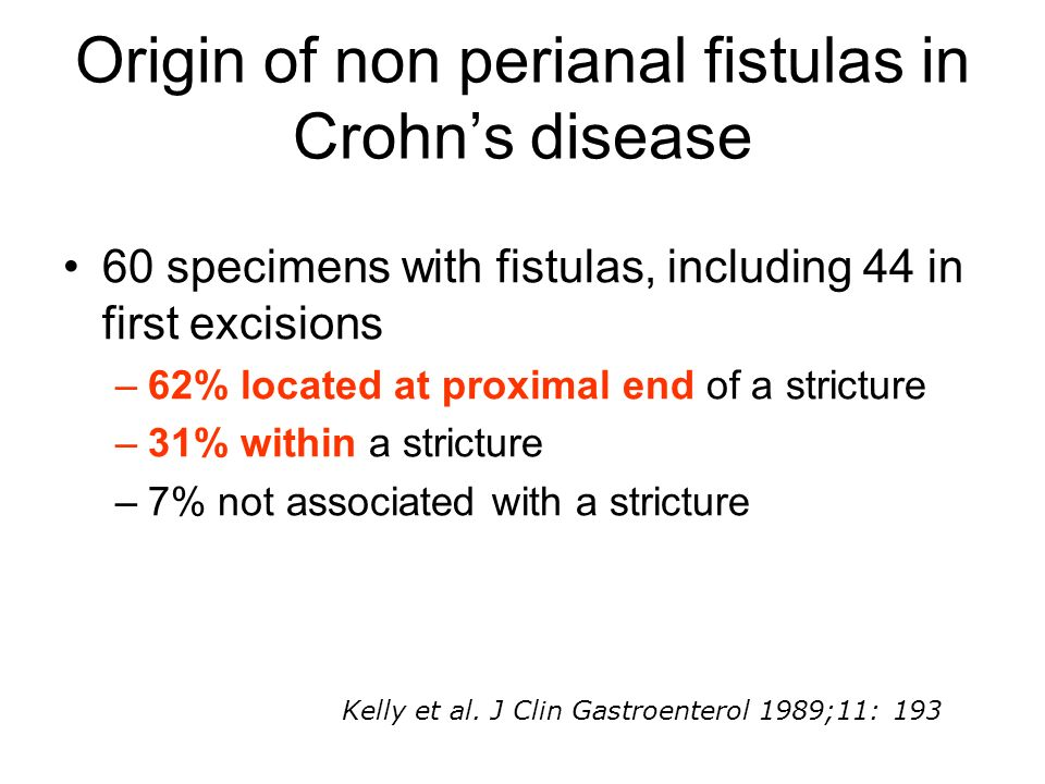 Origin of non perianal fistulas in Crohn's disease
