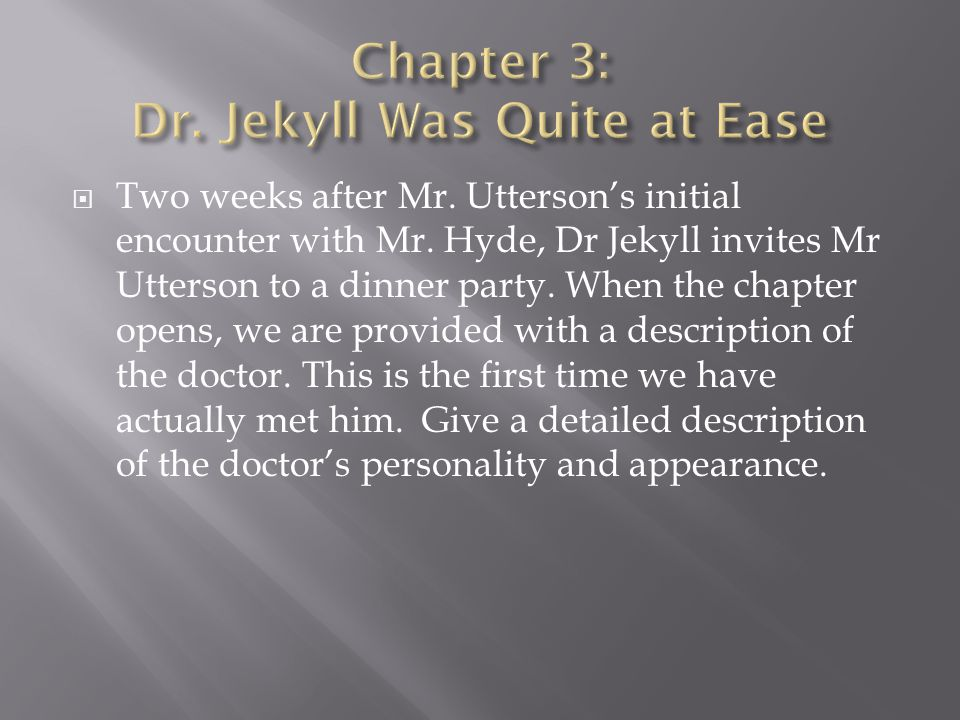 how is the chapter the carew Online study guide for dr jekyll and mr hyde (grades 9–1) , plot and action presenting violence.