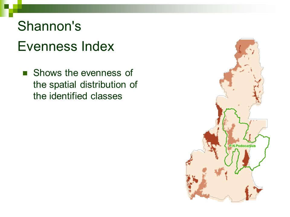 Shannon s Evenness Index