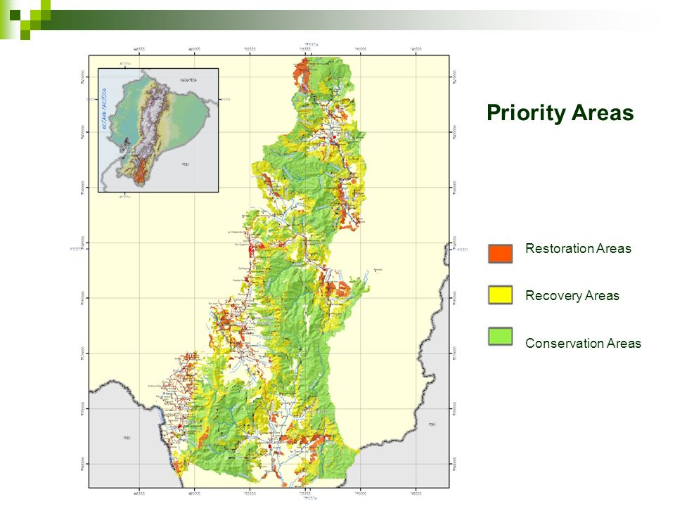 Priority Areas Restoration Areas Recovery Areas Conservation Areas
