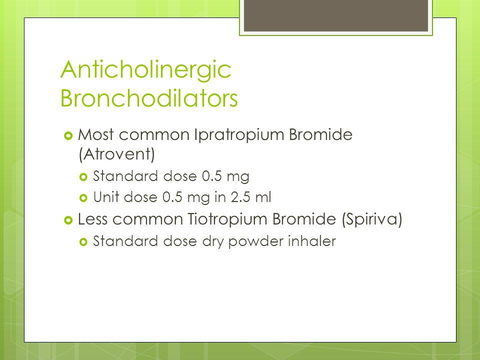 Ipratropium Bromide Mdi Side Effects