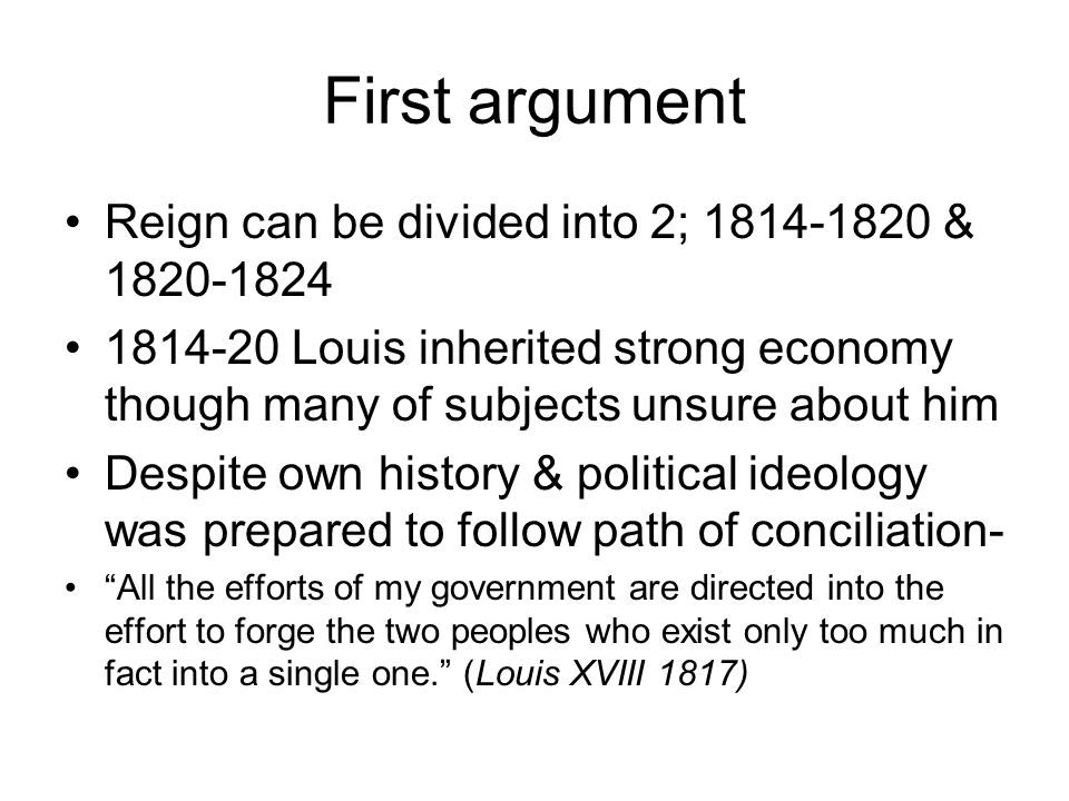 essays ppt first argument reign can be divided into 2 1814 1820 1820 1824