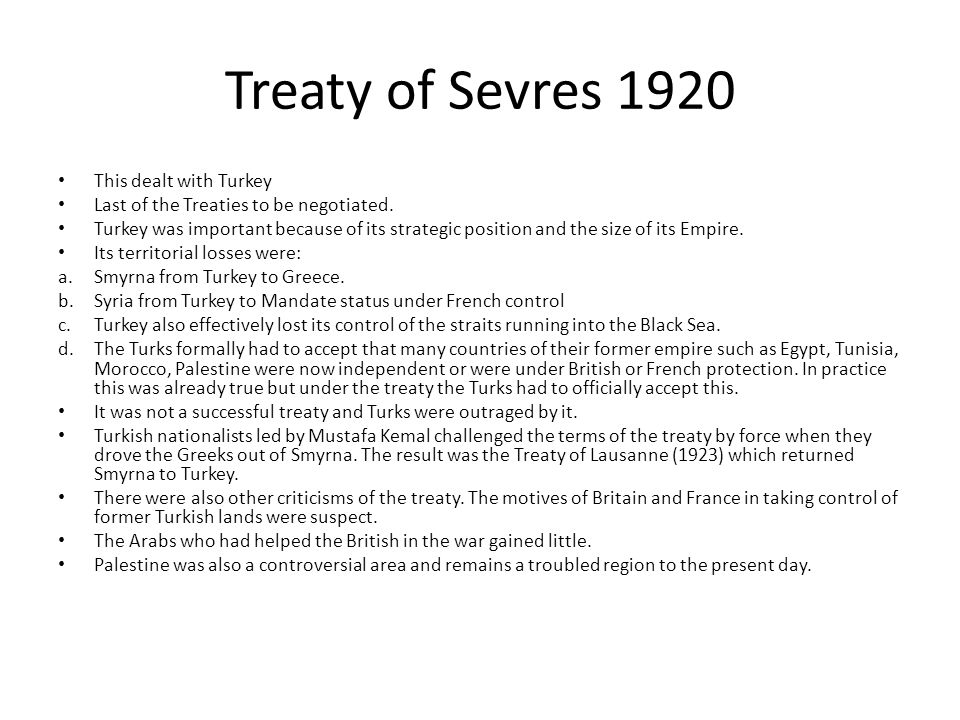Germany And Versailles Ppt Download - Greece in the treaty of sevres