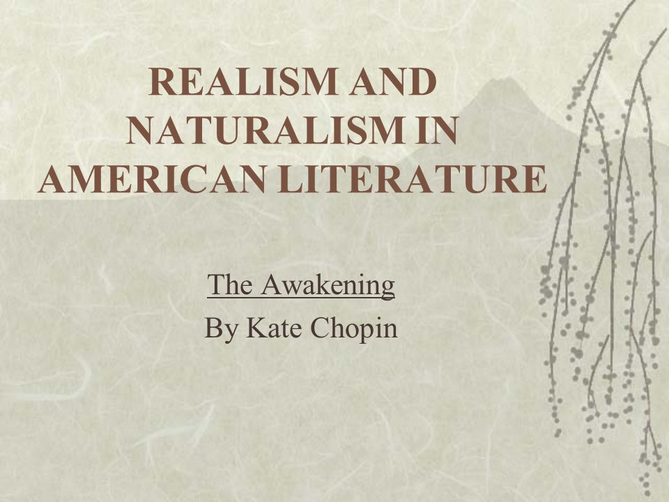 realism naturalism in the american A modified definition appears in donald pizer's realism and naturalism in  guide to american realism and.