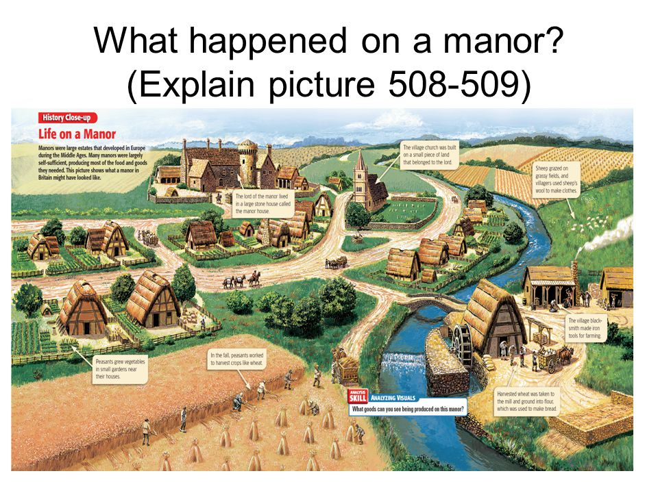 What happened on a manor (Explain picture )