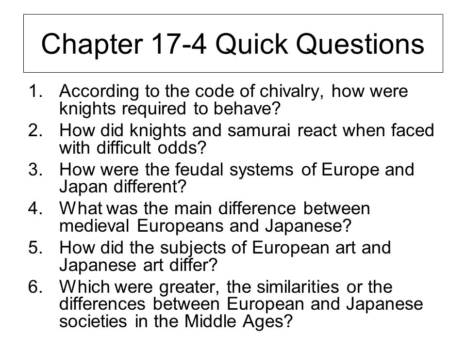 Chapter 17-4 Quick Questions