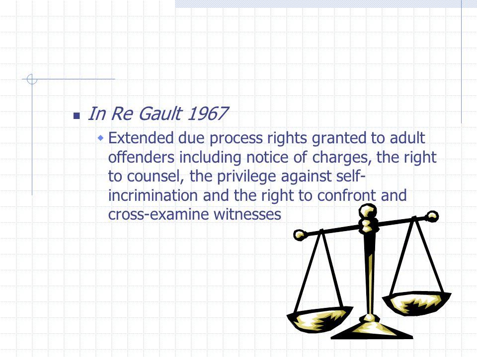 In re gault case - Coursework Sample