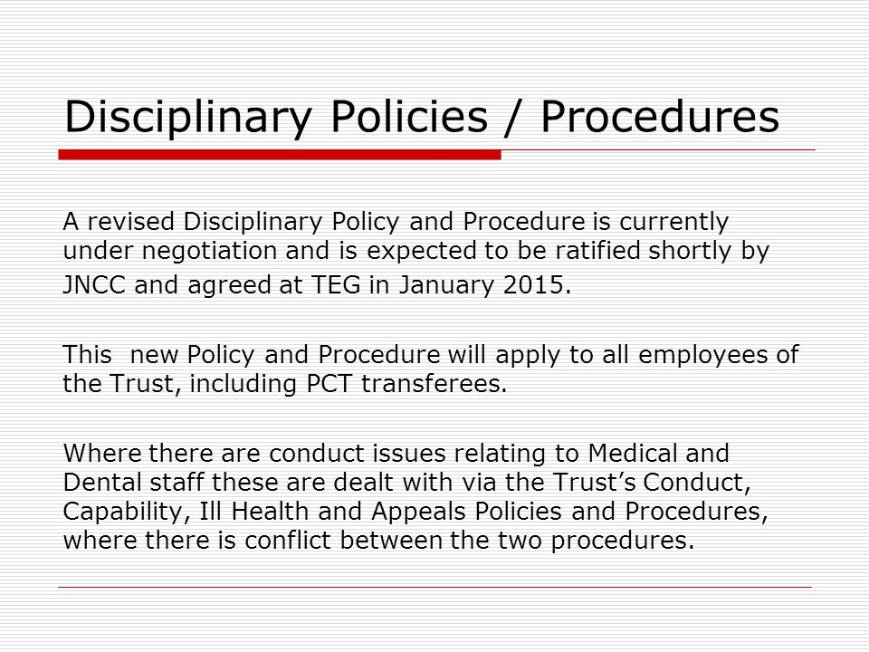 Disciplinary Policy >> Understanding Discipline In The Workplace Ppt Video Online Download