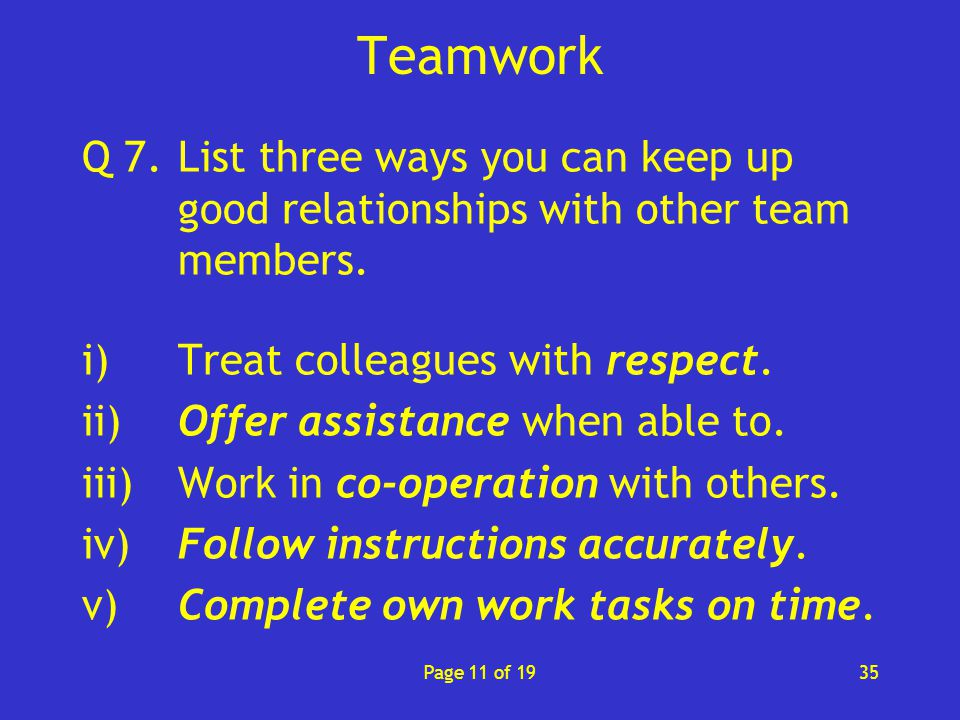 how to develop good working relationships with colleagues