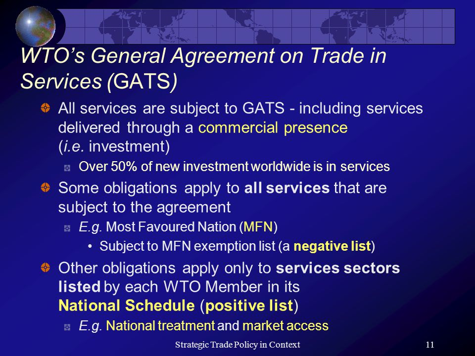 Trade in services ppt video online download 11 wtos general agreement platinumwayz
