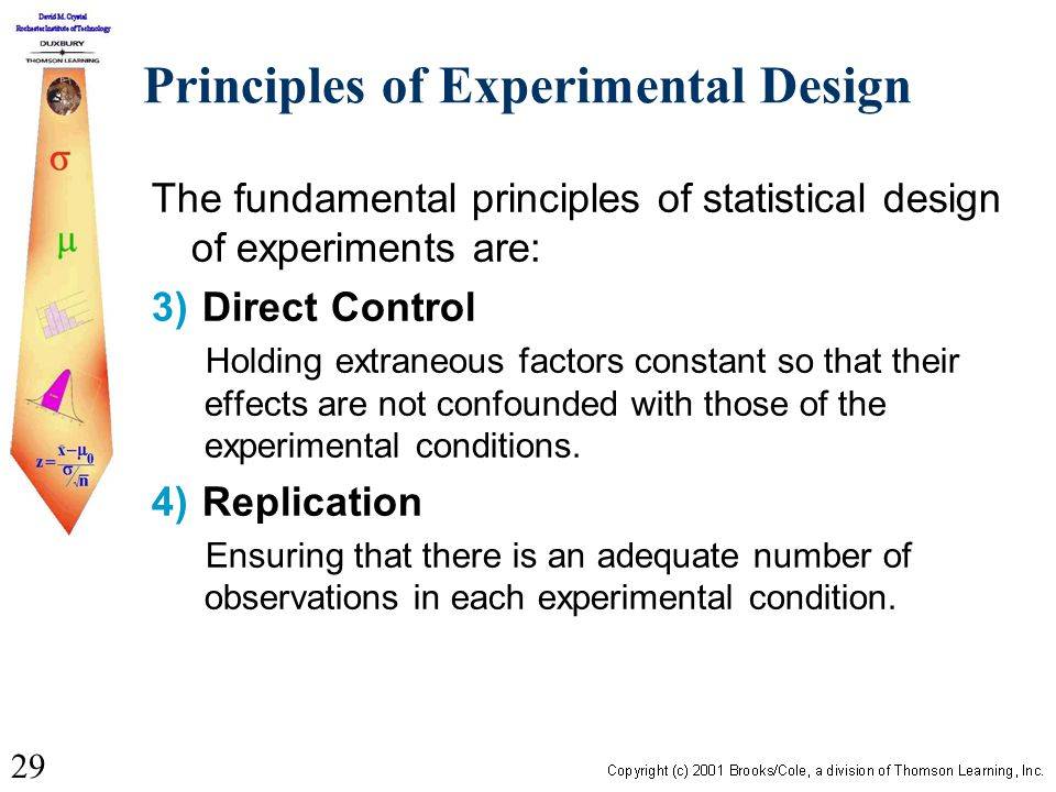 fundamental principles of research Chapter 13 principles of research design in this simple experiment, the researcher has met the basic requirements for testing a hypoth-esis: 1.