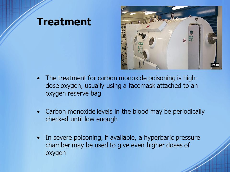 carbon monoxide poisoning treatment pdf