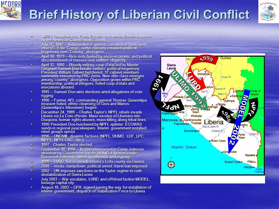 Brief History of Liberian Civil Conflict