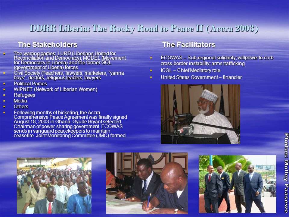DDRR Liberia: The Rocky Road to Peace II (Accra 2003)