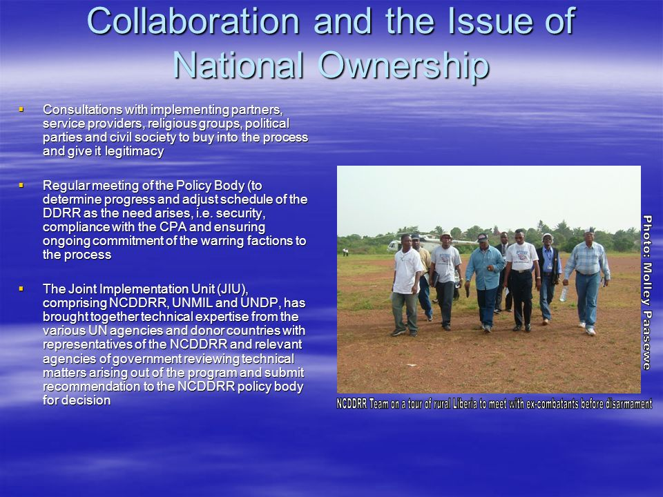 Collaboration and the Issue of National Ownership