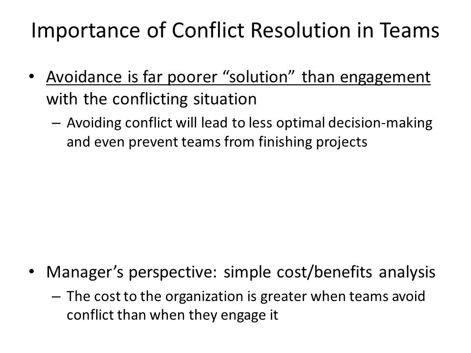 The significance of organizational conflict