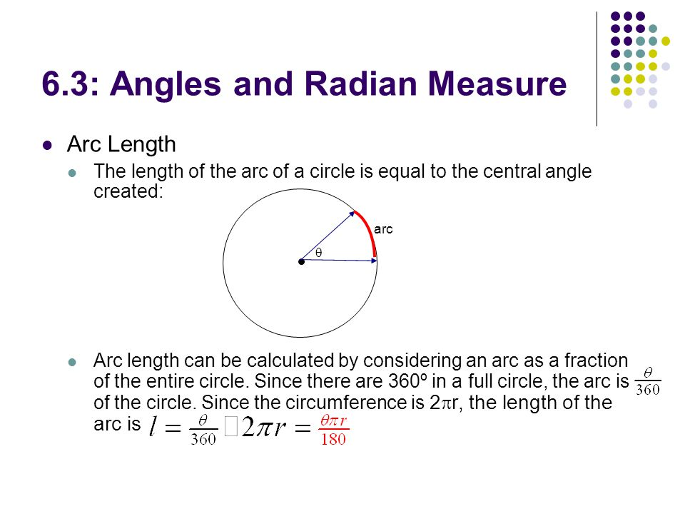 Measure Of An Angle : Chapter trigonometry angles and radian measure