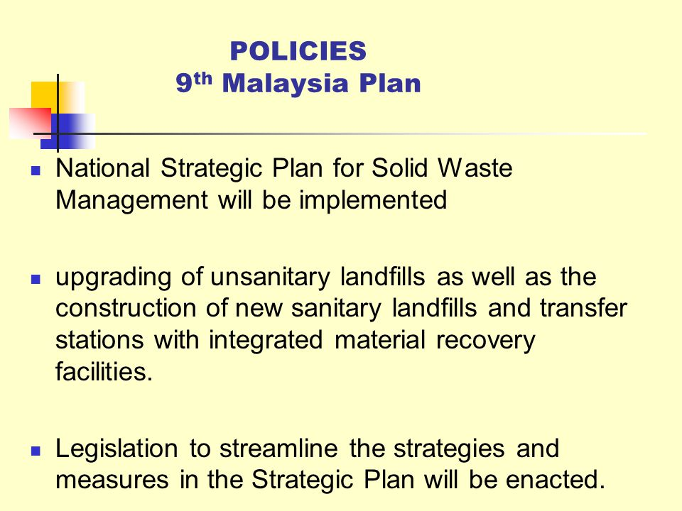 national solid waste management strategy Integrated solid waste management 0  (local and national government departments) waste generation  assist in unep waste strategy & action plan 2.
