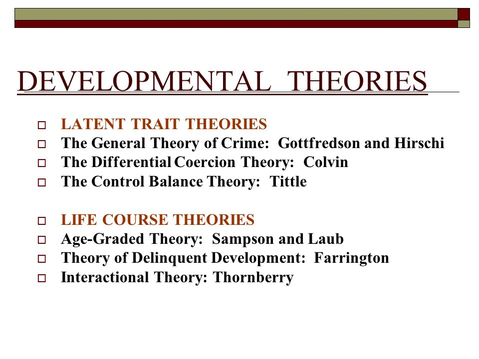 trait theory of crime Trait theory 1 trait theory 2 development of trait theory crime is a function of internal forces such as chemical, neurological.