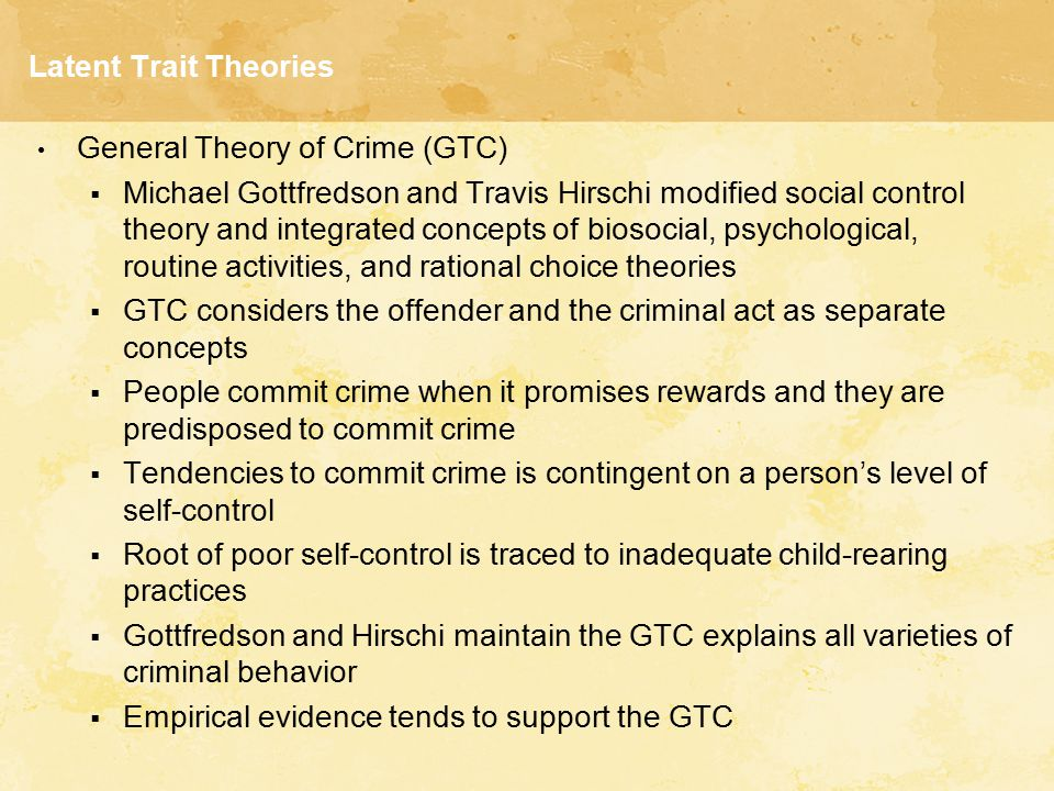 trait theory of crime