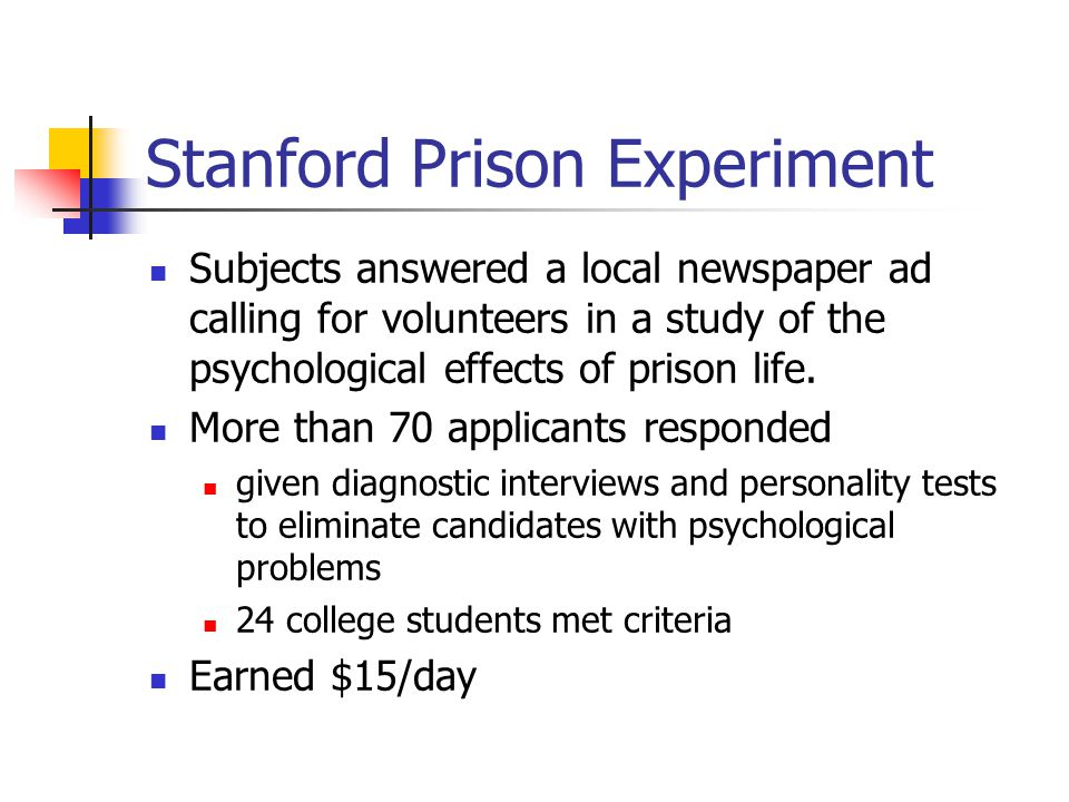 Stanford prison experiment ethics essay