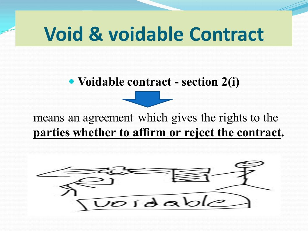 difference between voidable and void contract