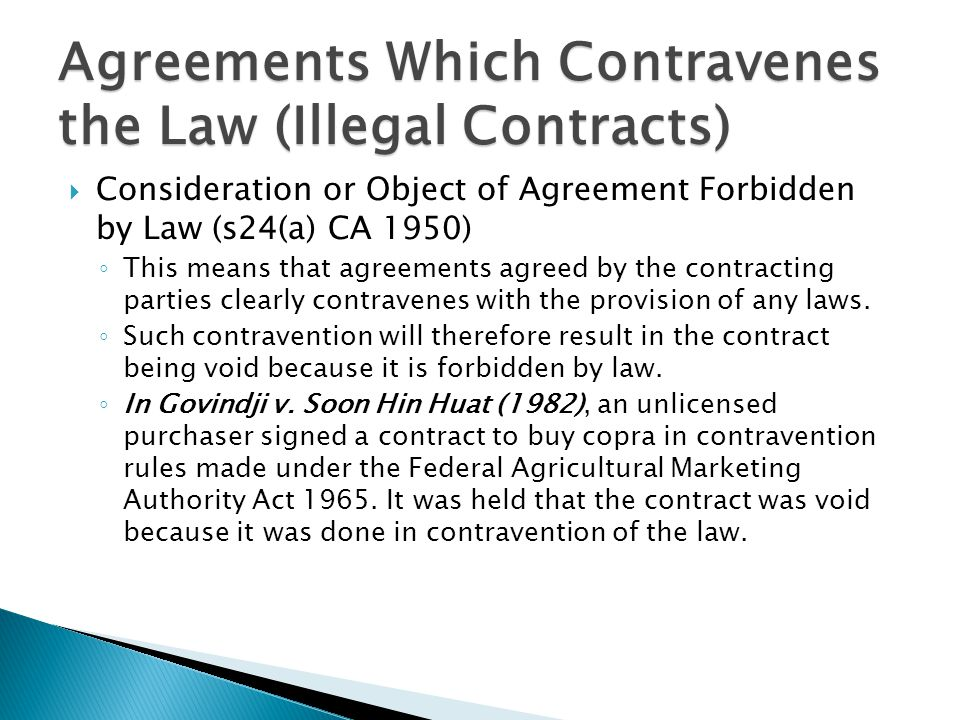 Business law law of contract ppt video online download agreements which contravenes the law illegal contracts platinumwayz