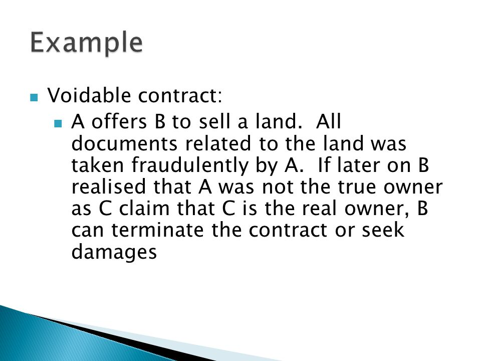 Void Contract Example
