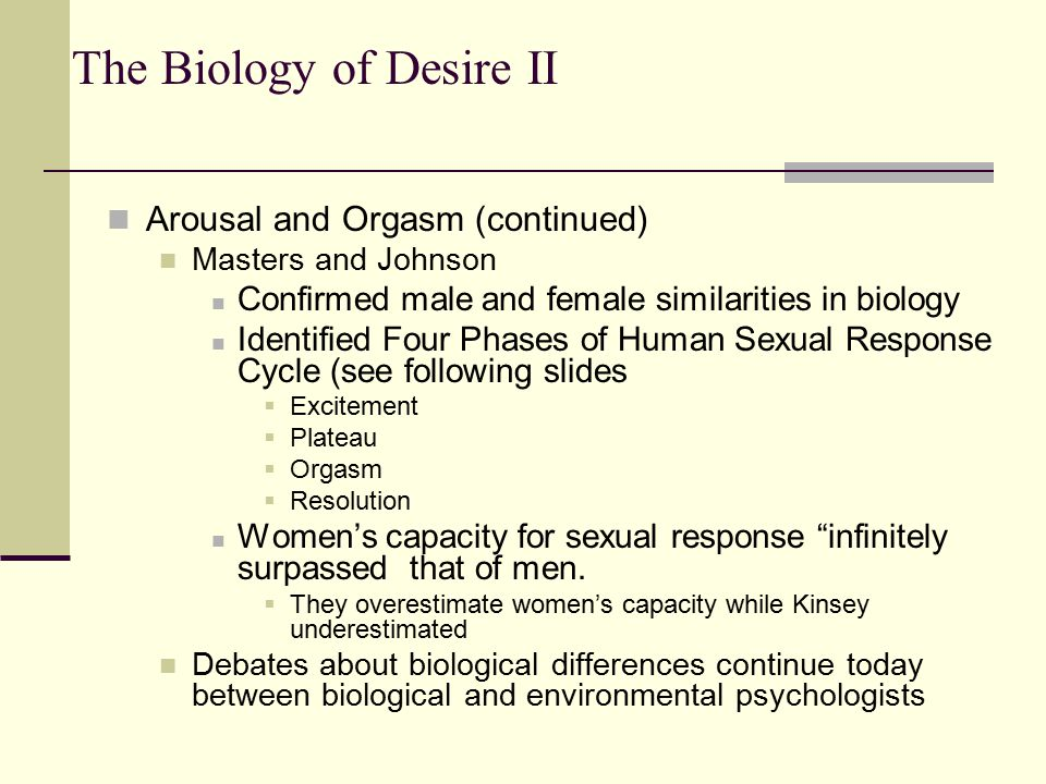 biology of an orgasm