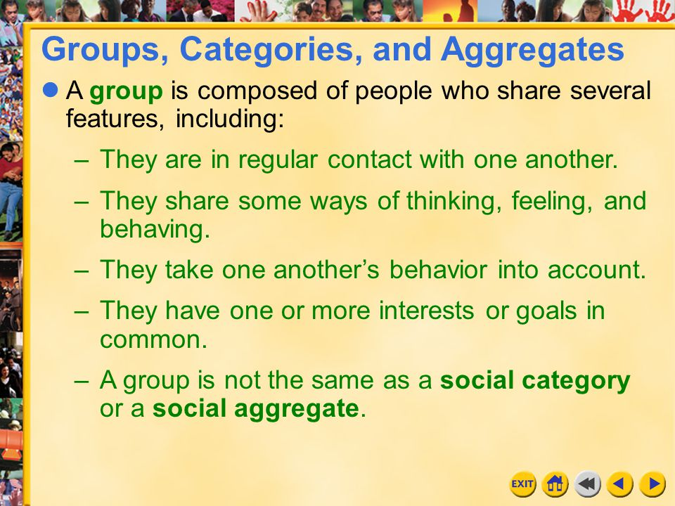 Groups, Categories, and Aggregates
