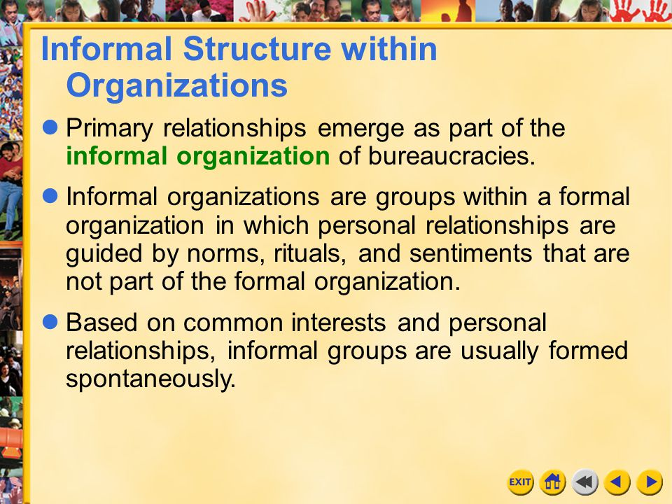 Informal Structure within Organizations