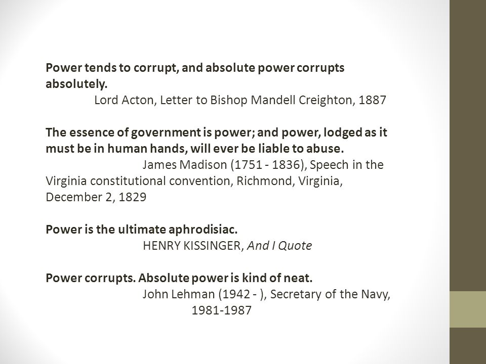 essay on power corrupts absolutely
