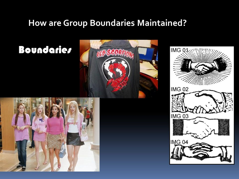 How are Group Boundaries Maintained