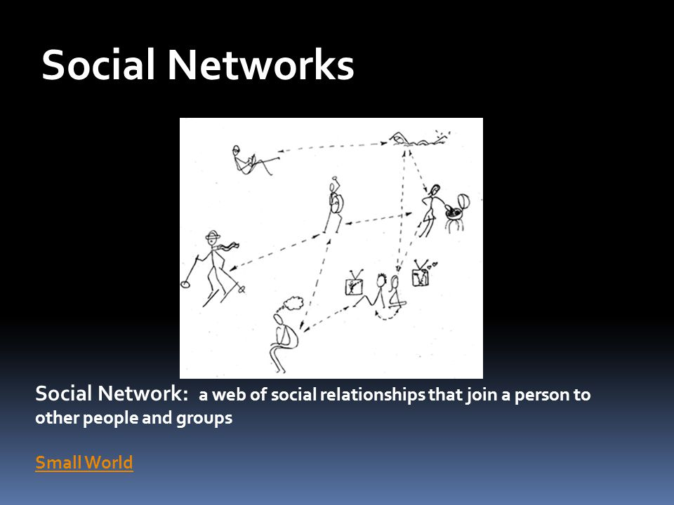 Social Networks Social Networks. As individuals and as members of primary and secondary groups we interact with many people.