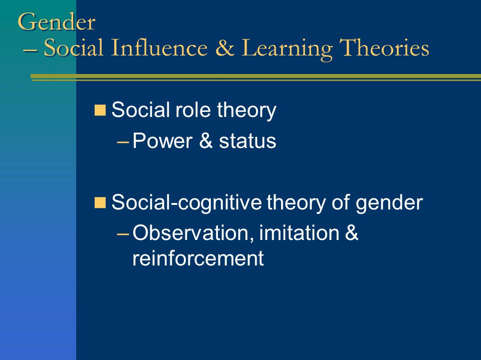 Social-Role Theory