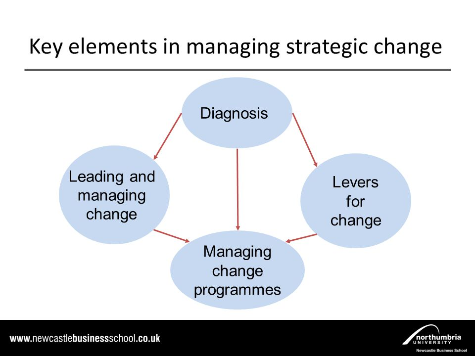 managing strategic change Organizations pursue strategic change in response to changes in the external environment and to improve firm performance managing large-scale organizational change has proven difficult and as many as 70-75% of all planned change initiatives fail to reach their goals.