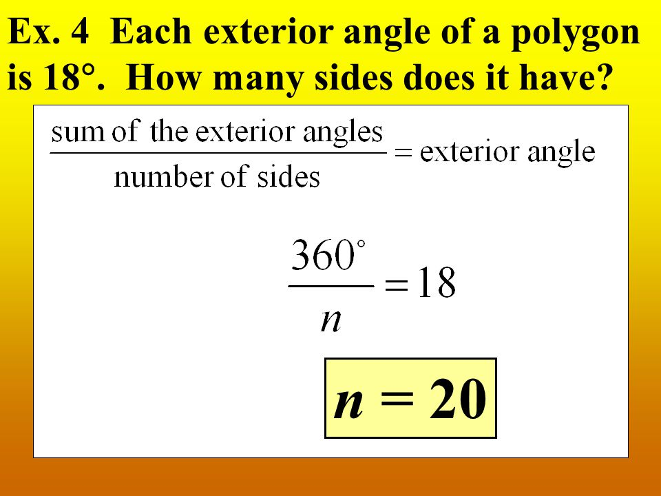 Naming polygons ppt video online download for Exterior angles of a polygon formula