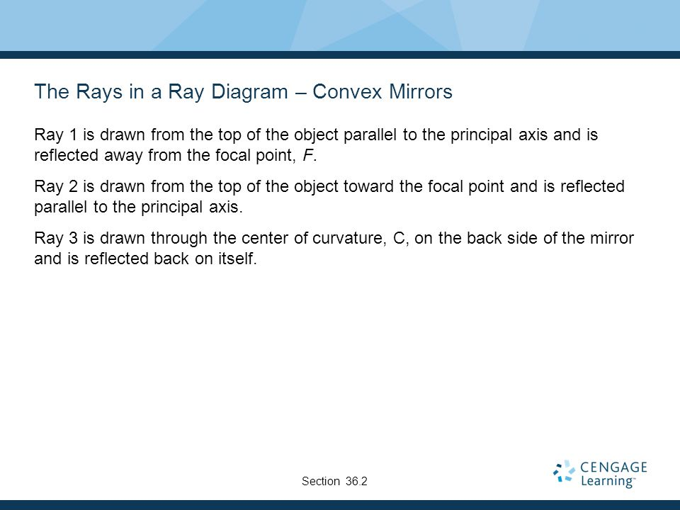 The Rays in a Ray Diagram – Convex Mirrors