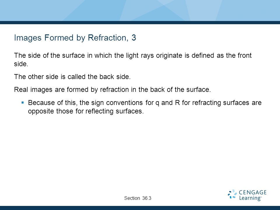 Images Formed by Refraction, 3