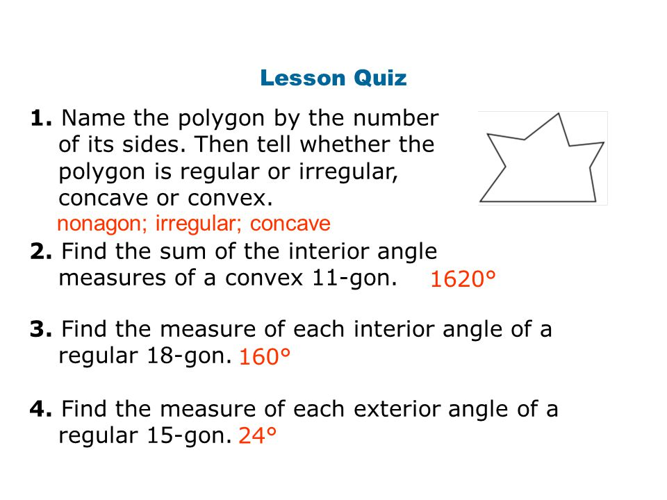 Objectives Classify Polygons Based On Their Sides And Angles Ppt Video Online Download