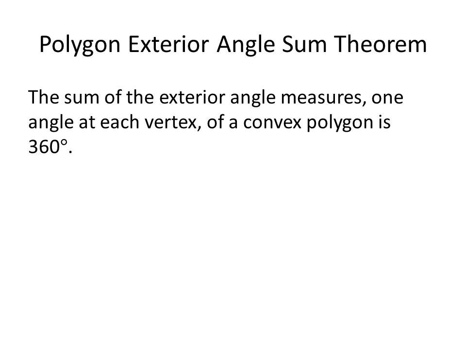 Properties of polygons ppt download - Sum of exterior angles of polygon ...