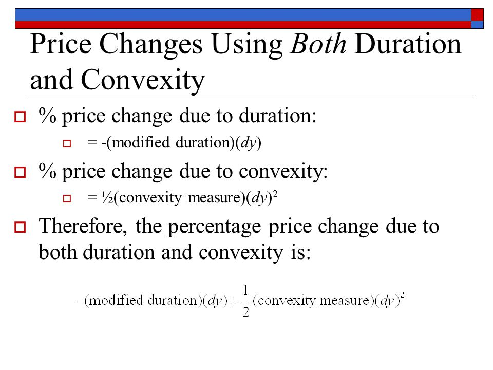Duration and convexity