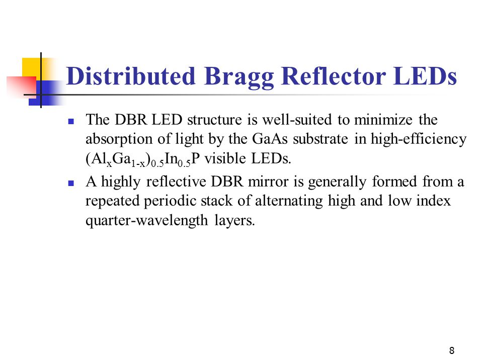 Distributed Bragg Reflector LEDs