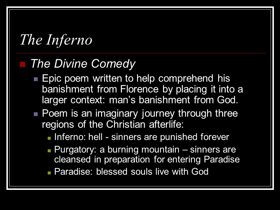 divine comedy summary