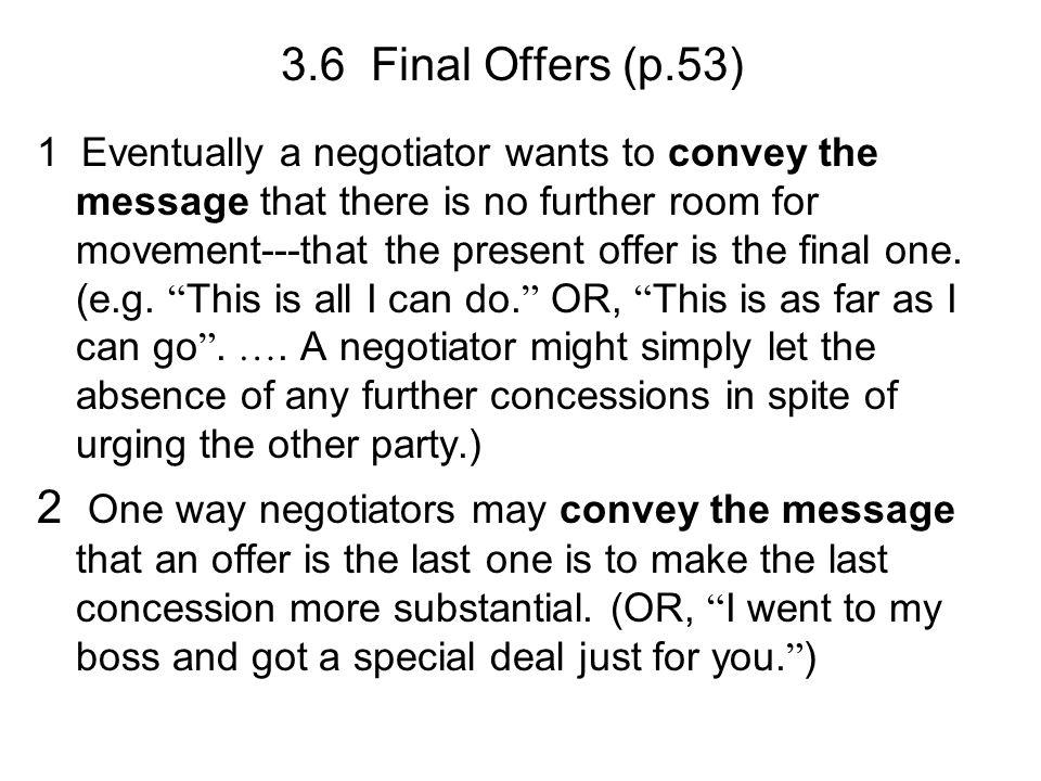 3.6 Final Offers (p.53)