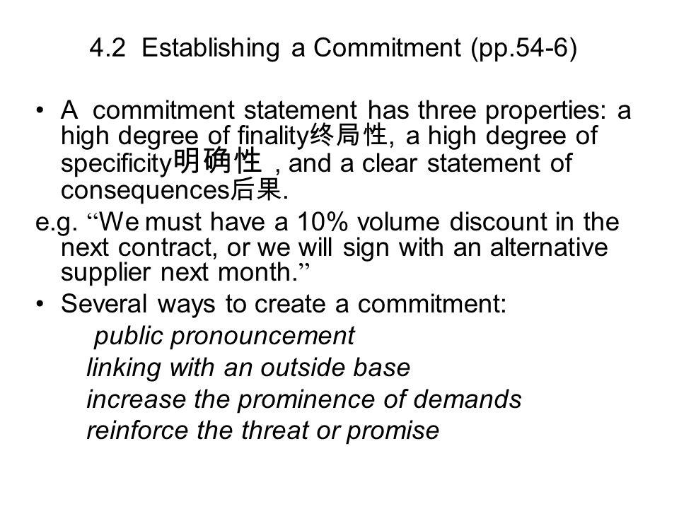 4.2 Establishing a Commitment (pp.54-6)
