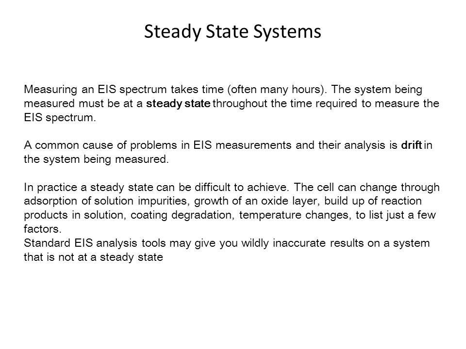 Steady State Systems