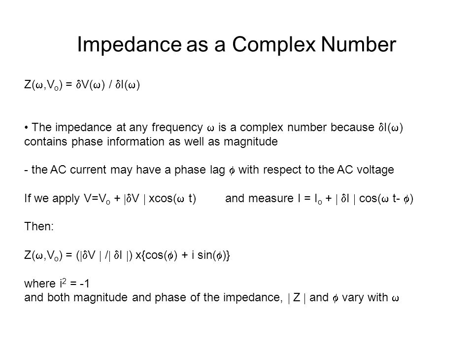 Impedance as a Complex Number