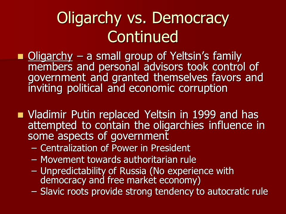 russias economy during yeltsin era The yeltsin era was a traumatic period in russian history a period  yeltsin,  vowing to transform russia's communist planned economy into a.